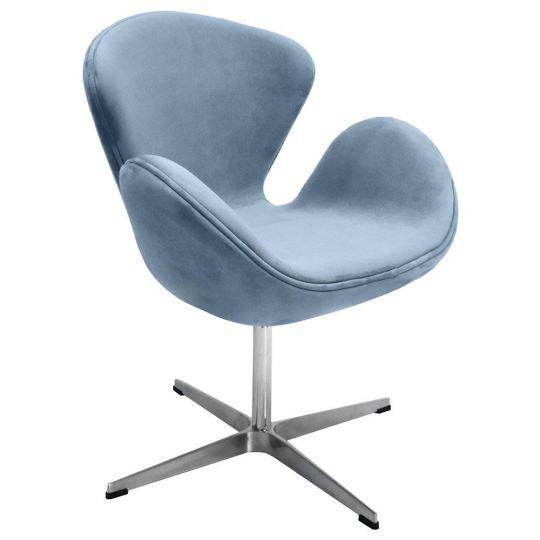 Кресло SWAN CHAIR серый, искусственная замша