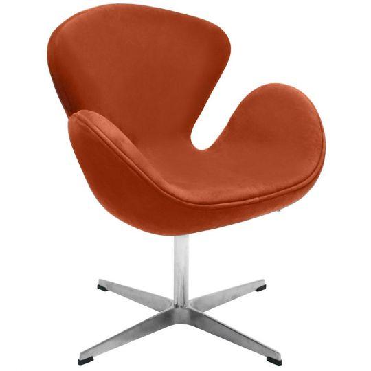 Кресло SWAN CHAIR терракотовый, искусственная  замша