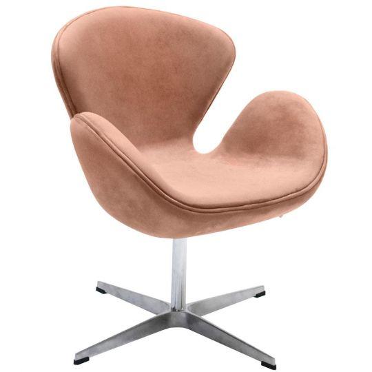 Кресло SWAN CHAIR пыльно-розовый, искусственная  замша