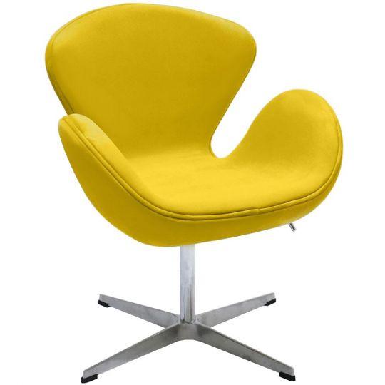 Кресло SWAN CHAIR жёлтый, искусственная замша