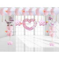 Оформление комнаты шариками, выписка для девочки