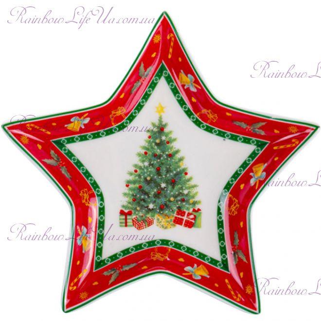 "Блюдо - звезда новогоднее 15 см ""Christmas tree"""
