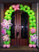 Арка из шаров цветочная с декором 6.5 м