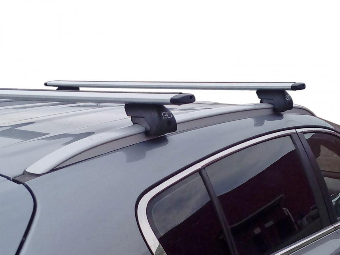 Багажник на интегрированные рейлинги Kia Sportage 4 (2016-...), Евродеталь, крыловидные дуги