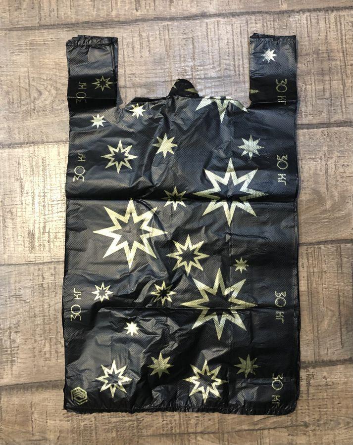 ХОЗТОВАРЫ ПАК06217 Пакеты Звезда Чёрная р.36/63 см, 50 шт. в упаковке.