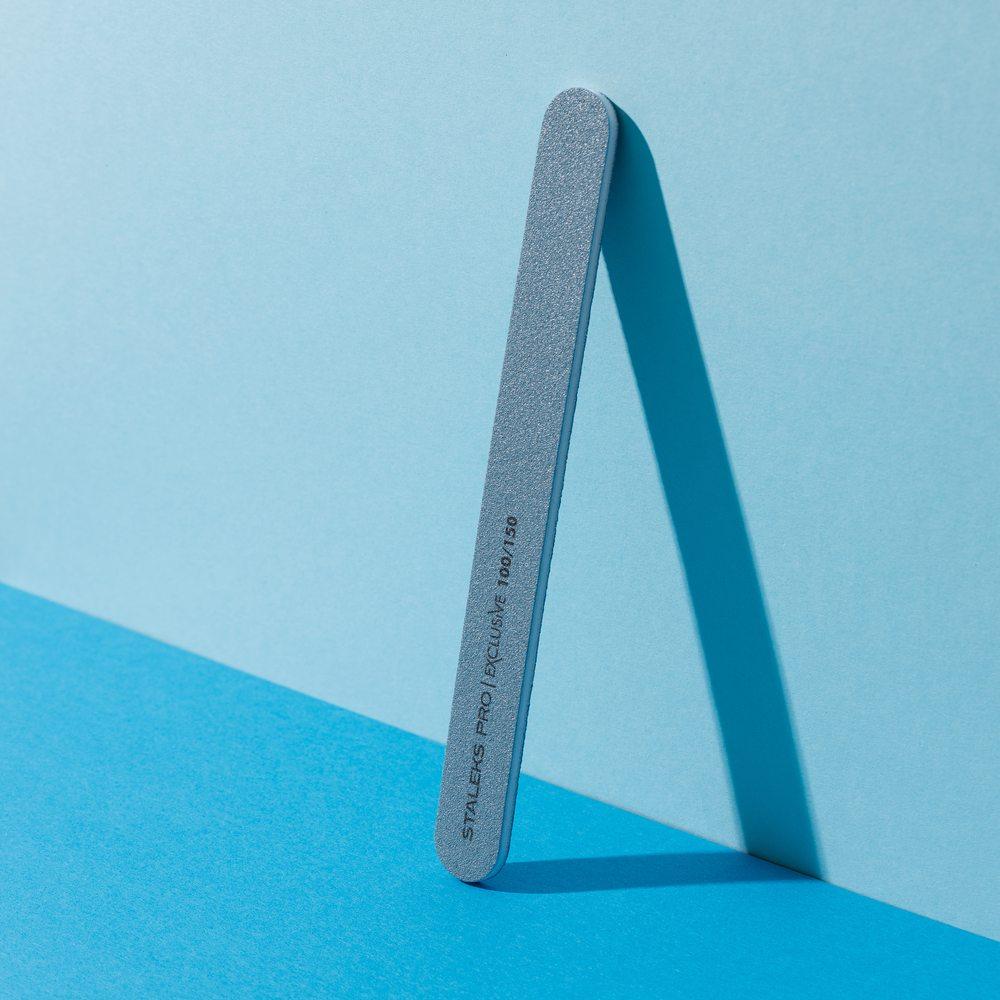 Минеральная пилка для ногтей (прямая), Staleks Pro Exclusive, 100/150 грит (Арт. NFX-22/8)