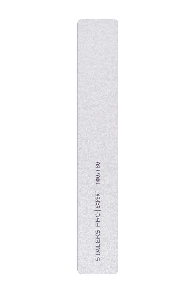Пилка широкая прямая минеральная для ногтей Staleks Pro Expert 30, 100/180 грит (Арт. NFB-30/1)