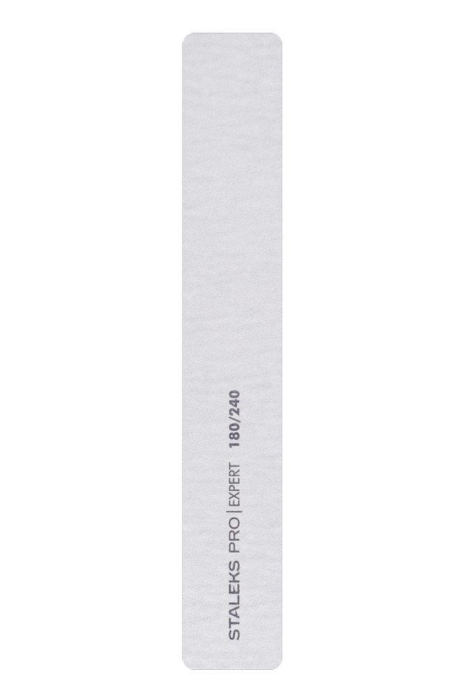 Пилка широкая прямая минеральная для ногтей Staleks Pro Expert 30, 180/240 грит (Арт. NFB-30/2)