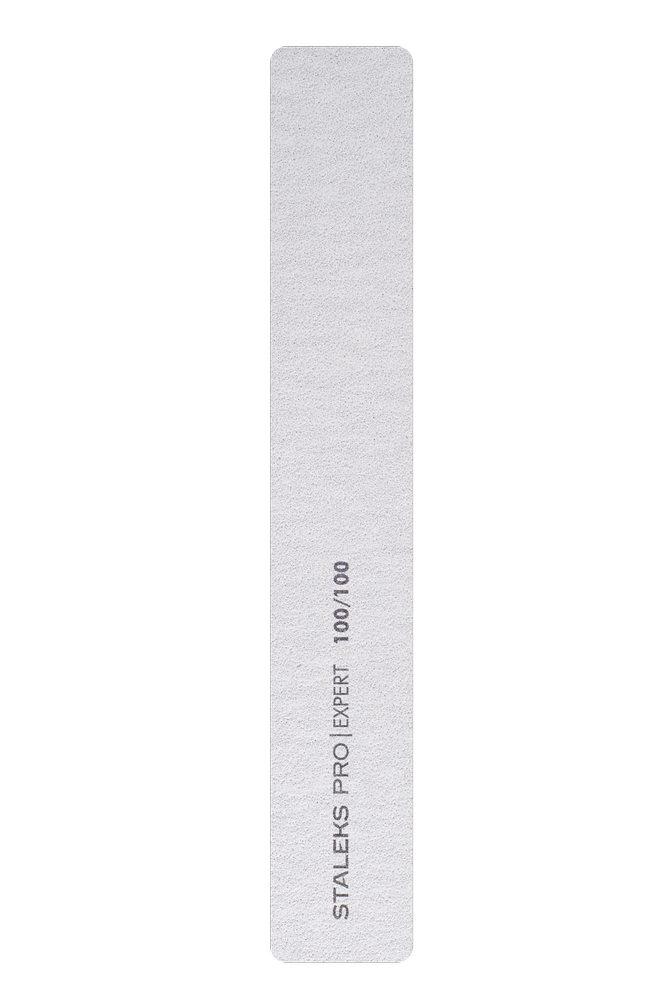 Пилка широкая прямая минеральная для ногтей Staleks Pro Expert 30, 100/100 грит (Арт. NFB-30/4)