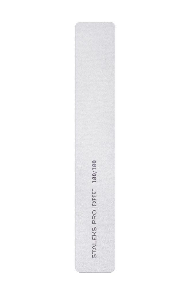 Пилка широкая прямая минеральная для ногтей Staleks Pro Expert 30, 180/180 грит (Арт. NFB-30/6)