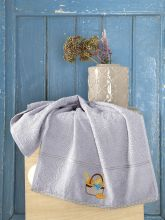 Махровое полотенце BREAKFAST 45*70 (серое) Арт.3203-2