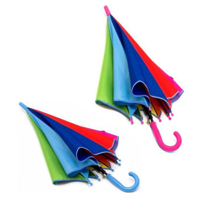 Детский зонтик-трость Радуга, 68 см