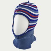 зм1218-15 Шлем вязаный двойной Полоски джинс