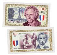 100 Cent FRANCS (франков) — Пьер Ришар. Франция (Pierre Richard). Памятная банкнота. UNC