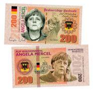 200 марок (Deutsche mark) — Германия. Ангела Меркель (Angela Merkel). Памятная банкнота. UNC