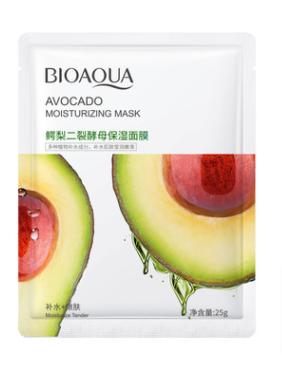 BIOAQUA Увлажняющая тканевая маска для лица с экстрактом Авокадо (74947)