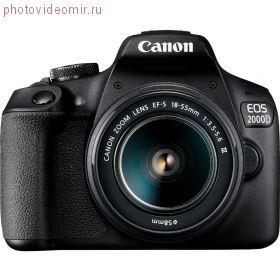 Зеркальная фотокамера Canon EOS 2000D Kit 18-55mm III черный