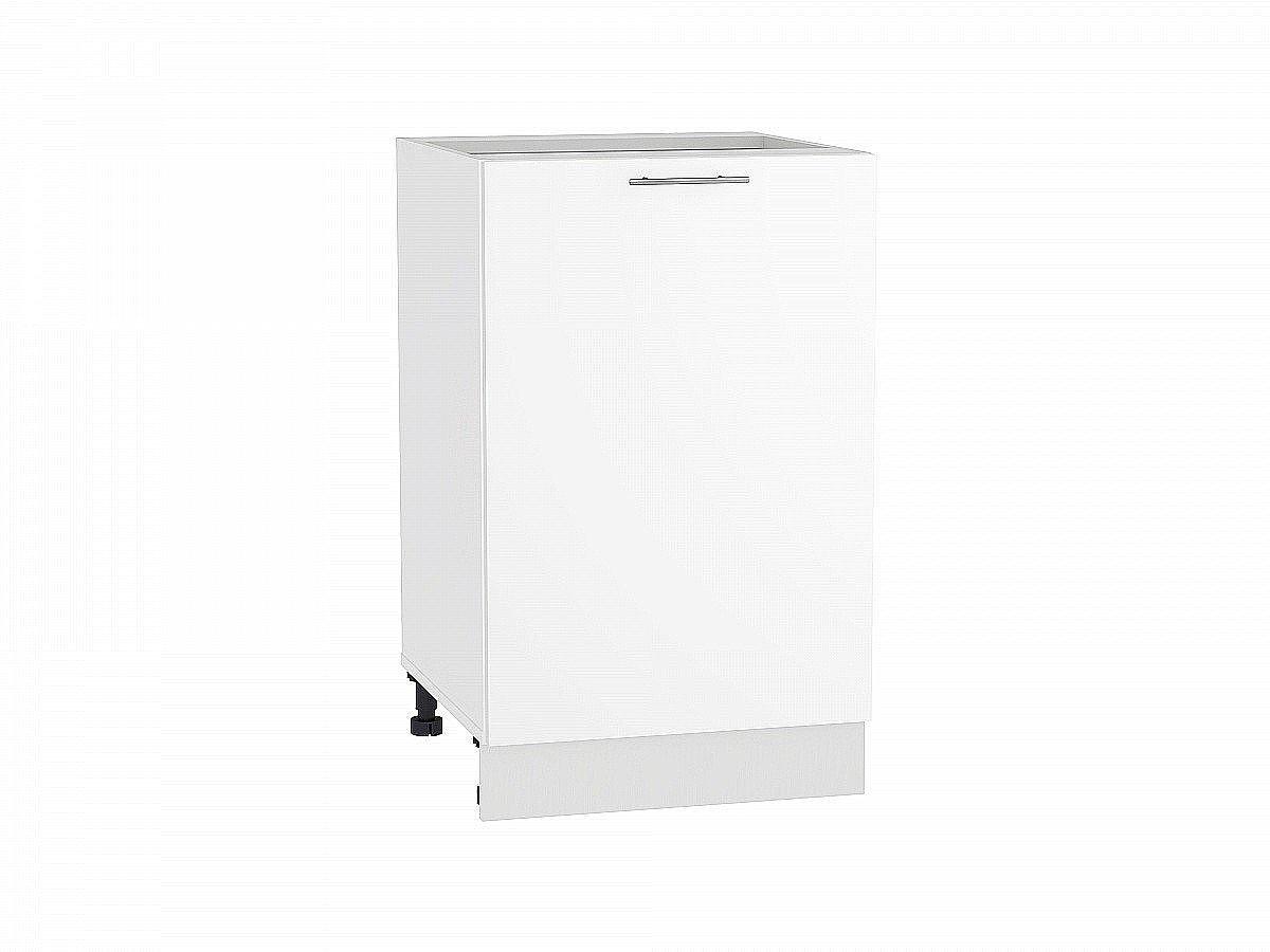 Шкаф нижний Валерия Н500 белый глянец