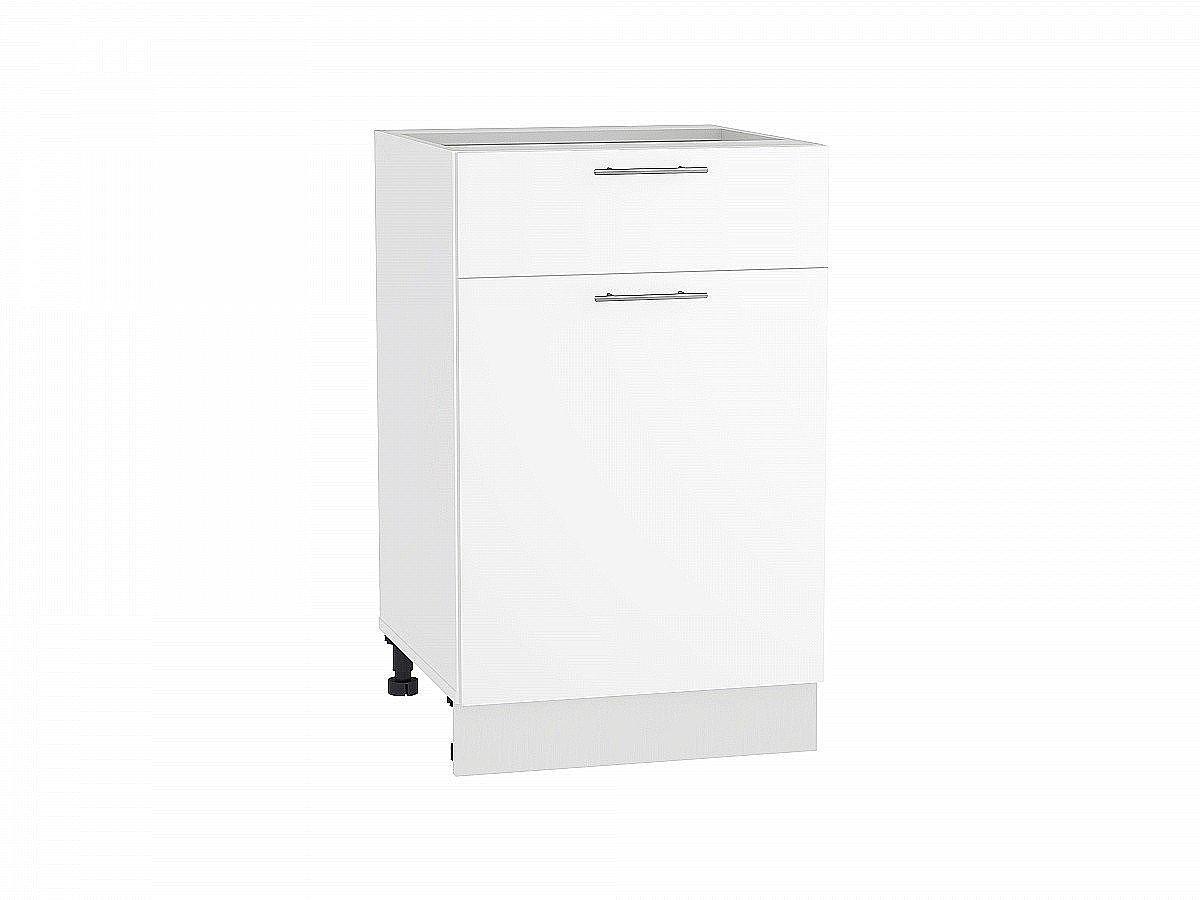 Шкаф нижний Валерия Н501 белый глянец