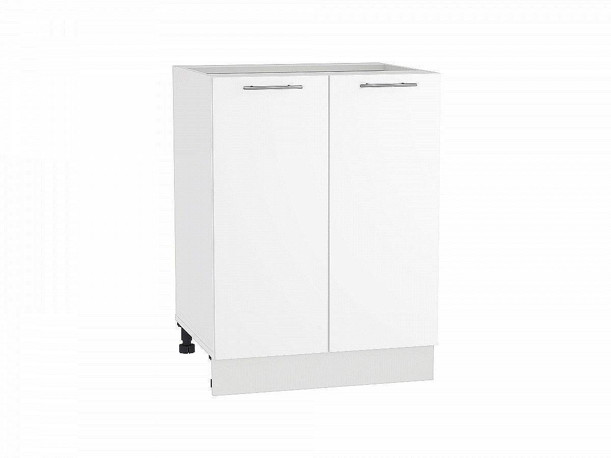 Шкаф нижний Валерия Н600 белый глянец