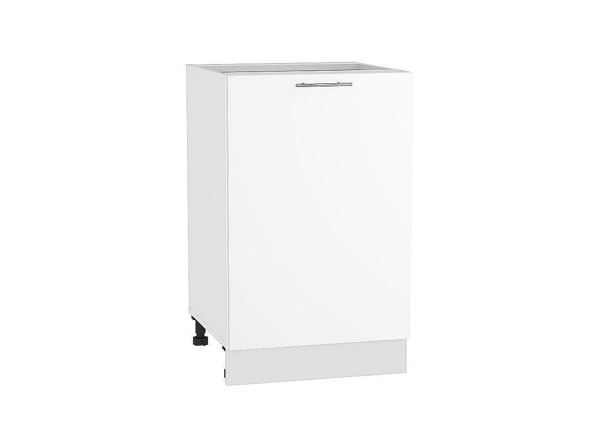 Шкаф нижний Валерия Н600-Ф46 белый глянец