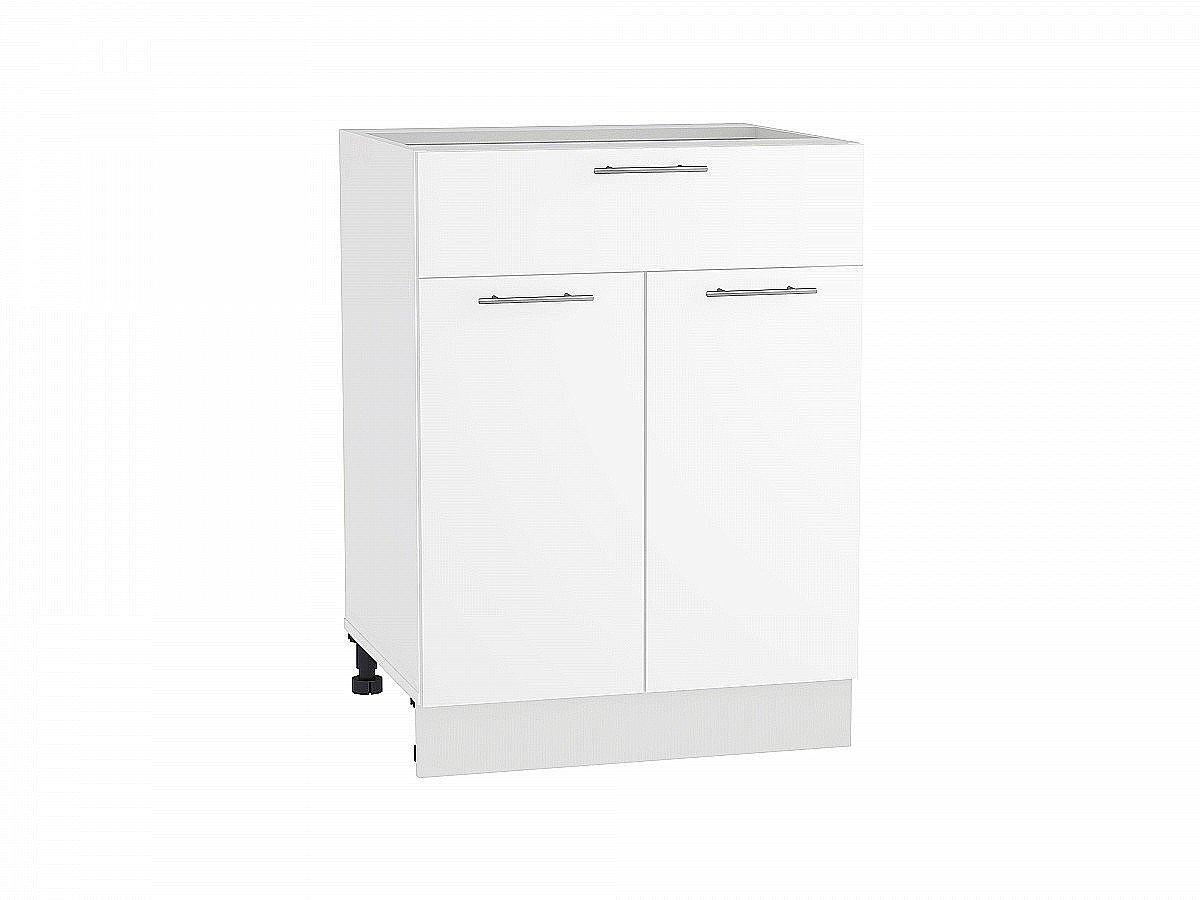 Шкаф нижний Валерия Н601 белый глянец