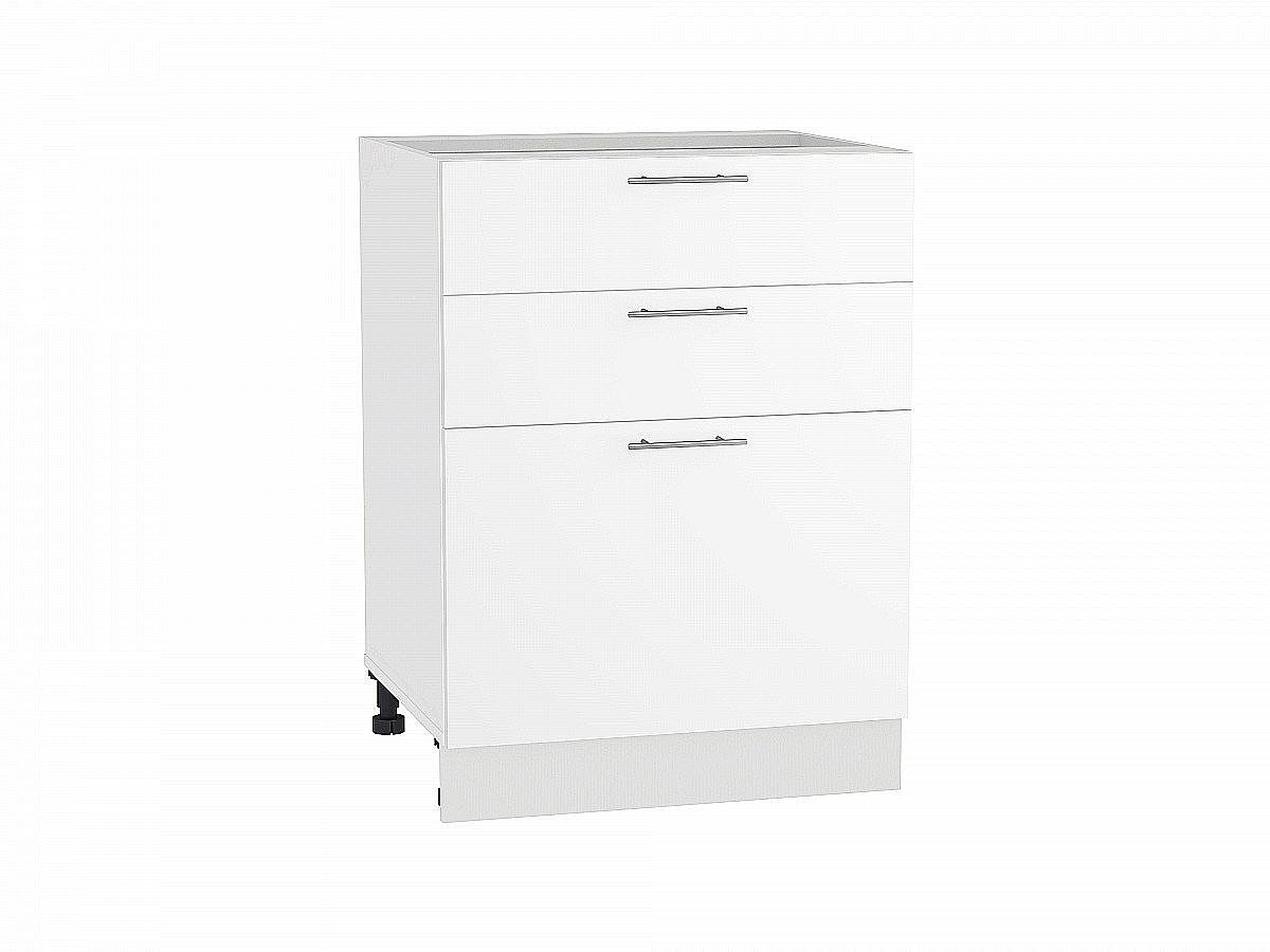 Шкаф нижний Валерия Н603 белый глянец