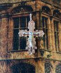 Позолоченный комбинированным золотом ажурный крест (арт. 250345)