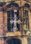 Позолоченный ажурный крестик (арт. 250346)