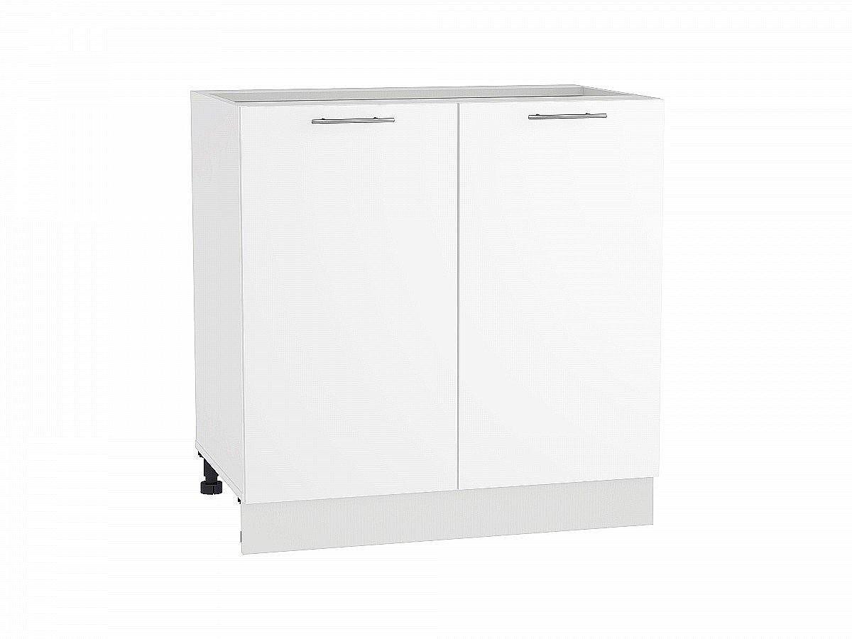 Шкаф нижний Валерия Н800 белый глянец