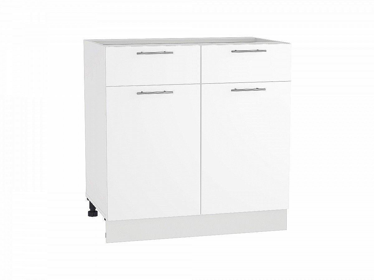 Шкаф нижний Валерия Н801 белый глянец