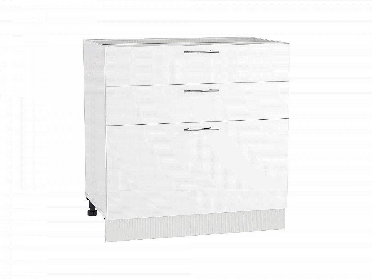 Шкаф нижний Валерия Н803 белый глянец