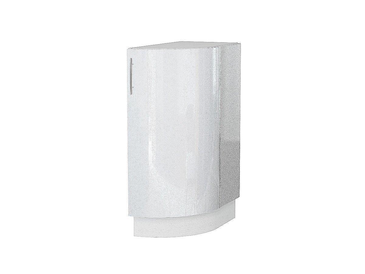 Шкаф нижний торцевой Валерия НТ300S белый глянец