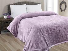 "Плед  велсофт жаккард ""KARNA""  GIZA 160x220 см (фиолетовый)  Арт.5120-1"