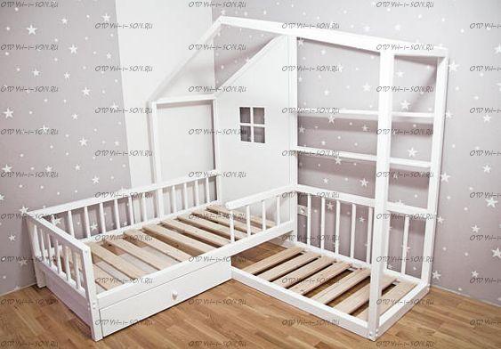 Кровать Домик угловой Fairy Land №15 (для двоих детей)