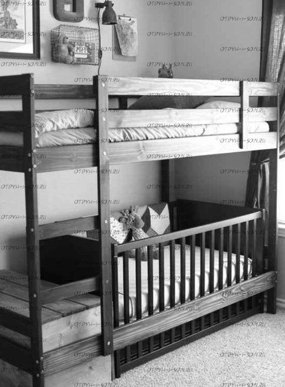 Кровать двухъярусная №В
