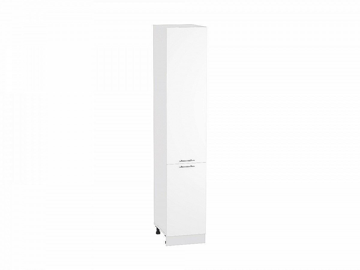 Шкаф пенал с 2-мя дверцами Валерия ШП400Н белый глянец
