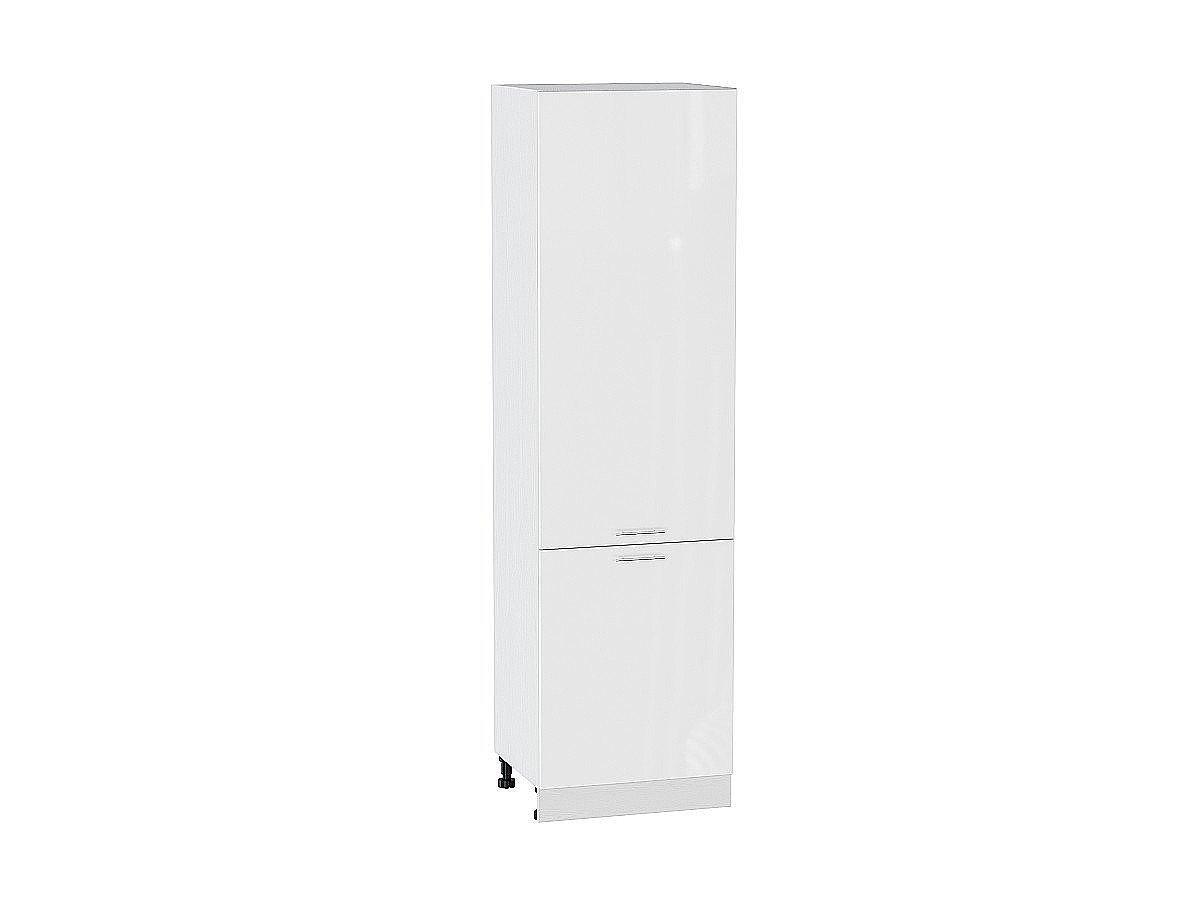 Шкаф пенал с 2-мя дверцами Валерия ШП600Н белый глянец