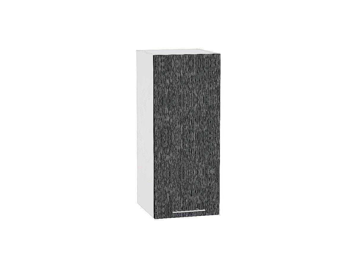 Шкаф верхний Валерия В309 (чёрный металлик дождь)