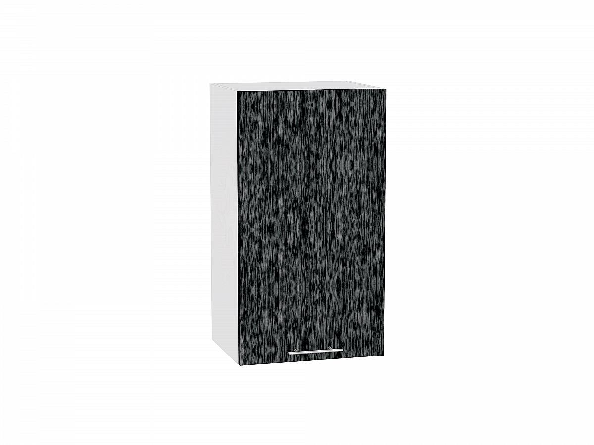 Шкаф верхний Валерия В400 (чёрный металлик дождь)