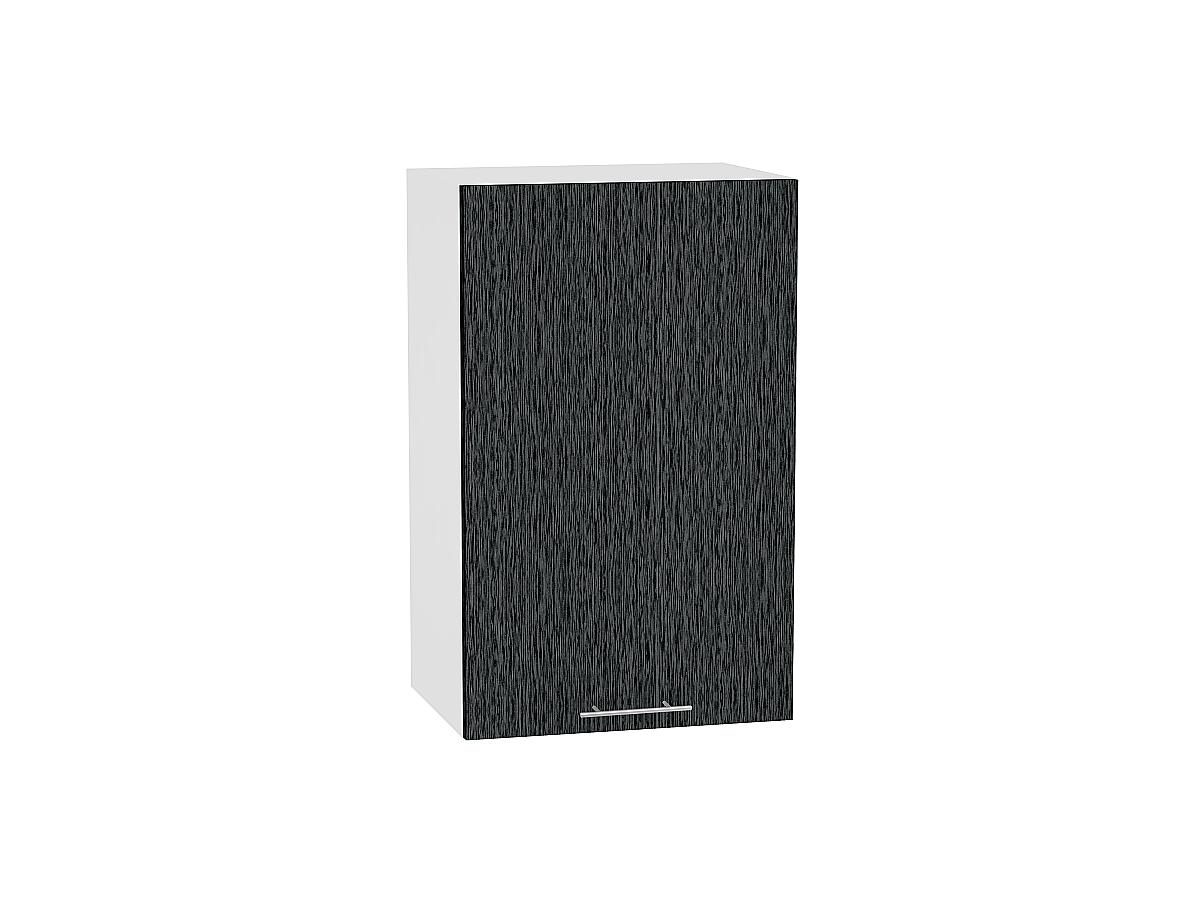 Шкаф верхний Валерия В459 (чёрный металлик дождь)