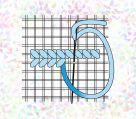 фото Флизелин водорастворимый с рисунком Сетка Аида 10х15 см. Разный каунт. K160.14