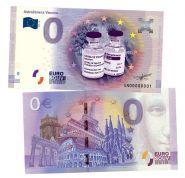 0 ЕВРО - AstraZeneca Vaccine (Вакцина АстраЗенека). Памятная банкнота