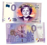 0 ЕВРО - Angela Merkel (Ангела Меркель). Памятная банкнота