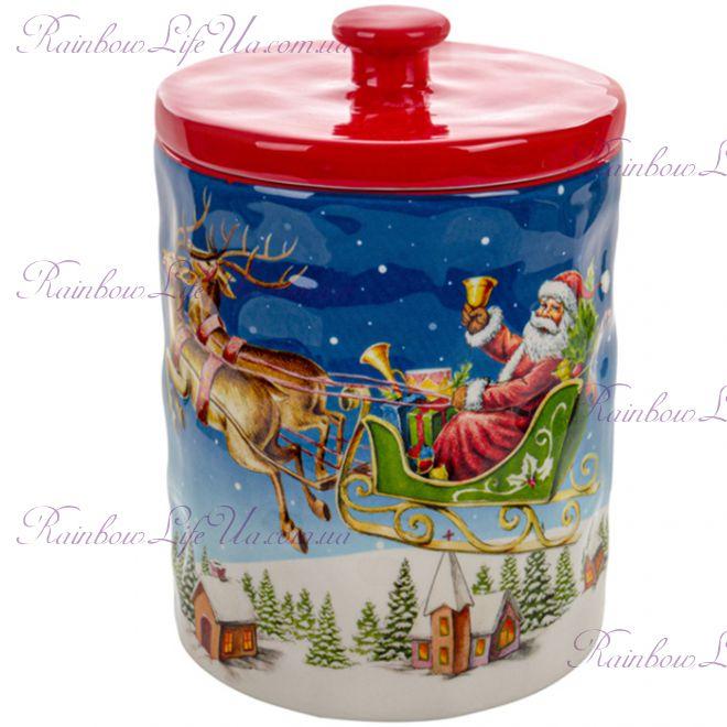 "Банка для хранения сыпучих 1,8 л ""Дед Мороз"""