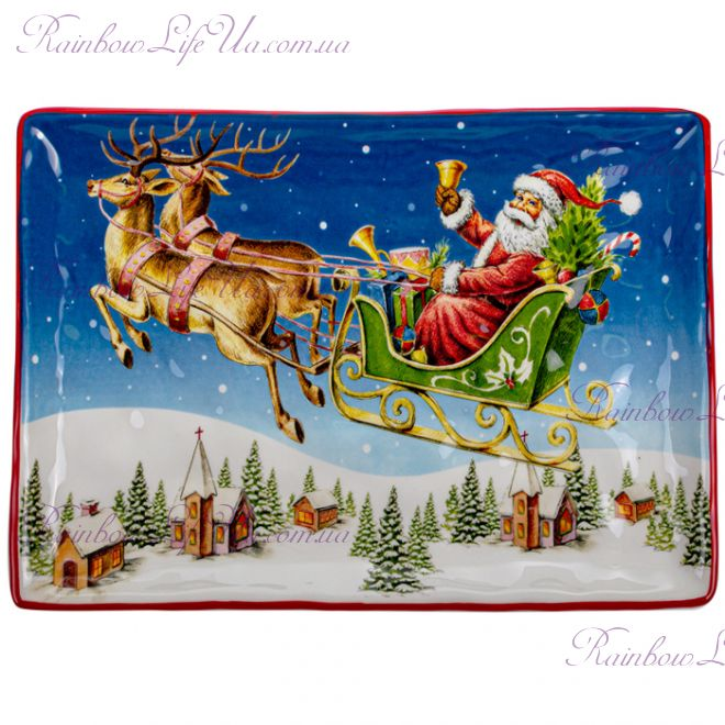 """Блюдо новогоднее 34 см """"Санта Клаус"""""""