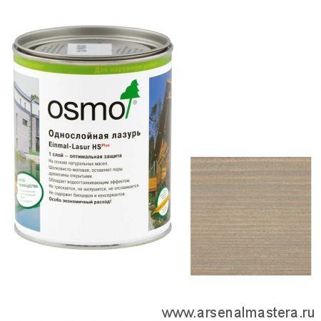 Однослойная лазурь для древесины для наружных работ OSMO Einmal-Lasur HS PLUS 9212 Серебристый тополь 0,75 л