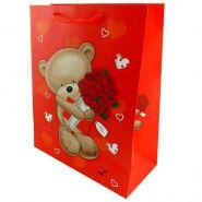"""Пакет подарочный """"Мишка с Букетом"""""""