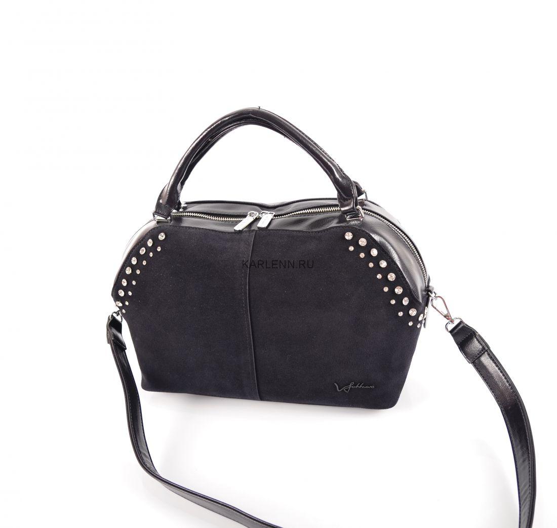 Классическая женская сумка Velina Fabbiano (черничная)