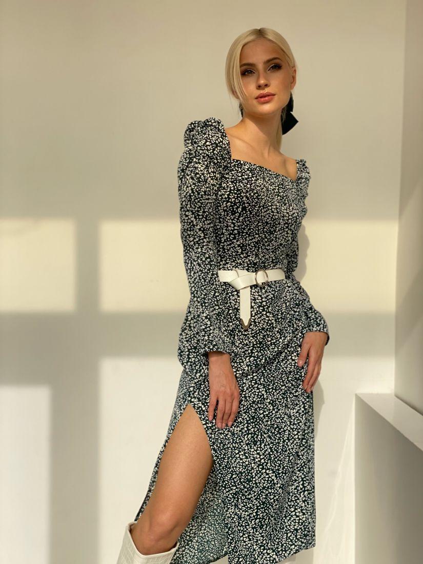 4722 Платье в анималистичной расцветке